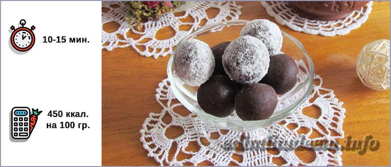 Конфеты со сгущенкой, какао и орехами