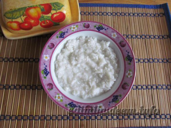 Как приготовить рис с яблоками ребенку