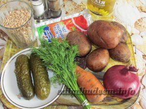 Рецепт рассольника с пшеницей