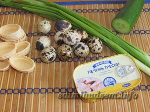 Рецепт закуски с печенью трески с фото