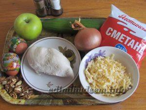 Салат с курицей. Рецепт с фото