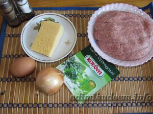 Мясной рулет сыром