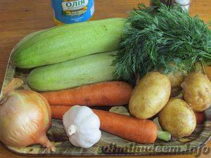 Картофель с кабачками