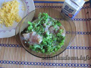 брокколи с куриным филе в духовке