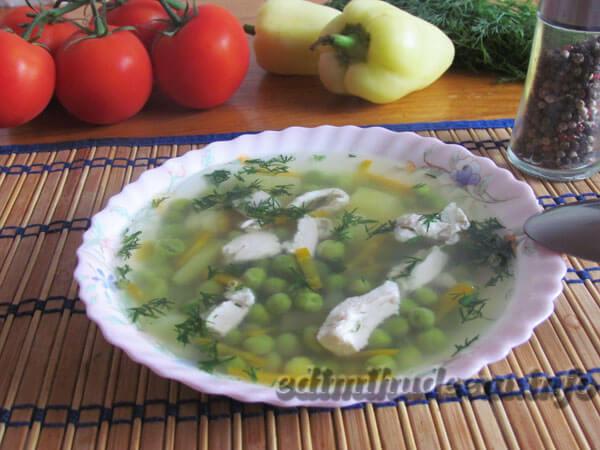 суп с горошком фото