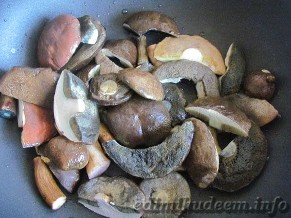 польские грибы жареные