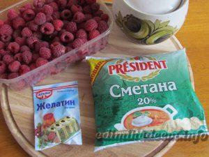 панакота с малиной: ингредиенты