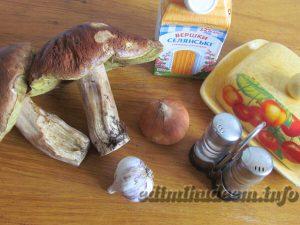 крем суп с белыми грибами