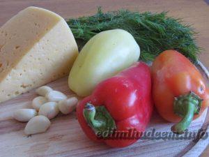Перец с сыром и чесноком
