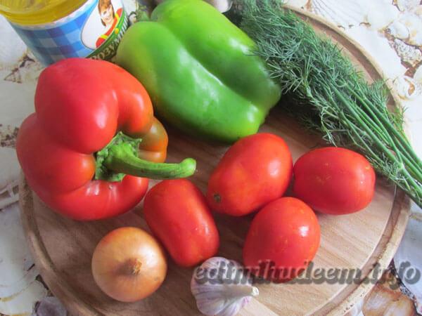 Сладкий перец с овощами