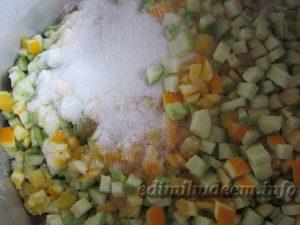 кабачковое варенье с апельсином