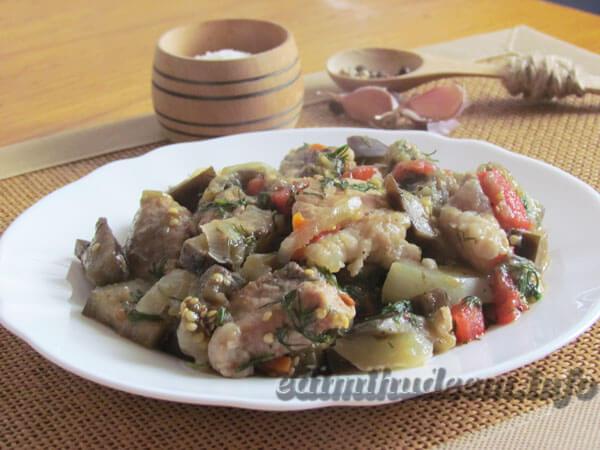 свинина баклажаны болгарский перец