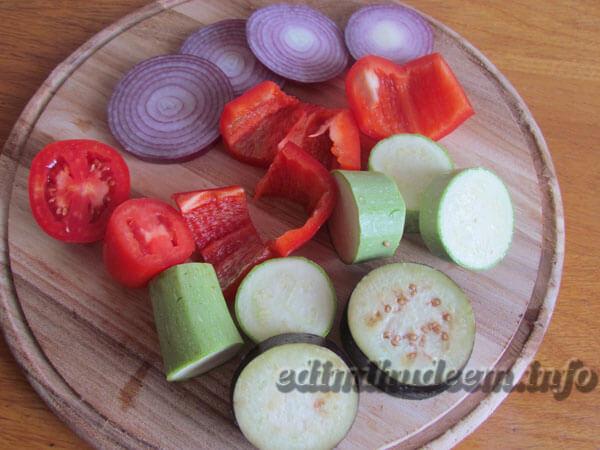 овощи на костре