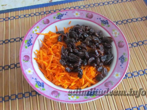 морковка с изюмом и сметаной