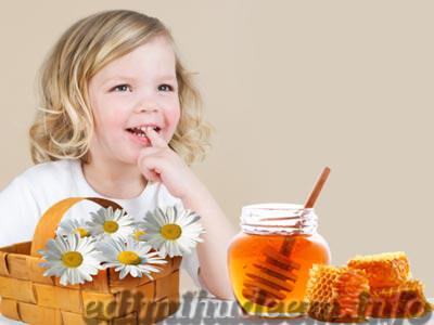 польза меда для детей