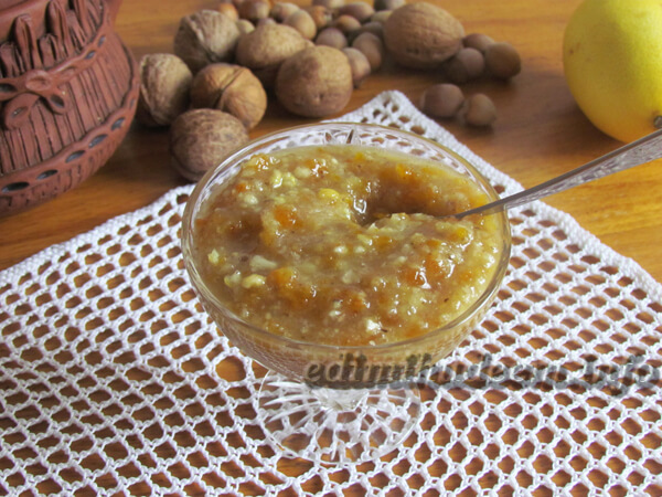 смесь мед орехи курага