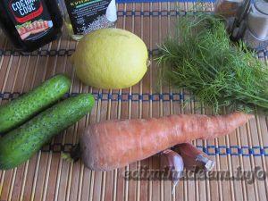 салат огурец морковка
