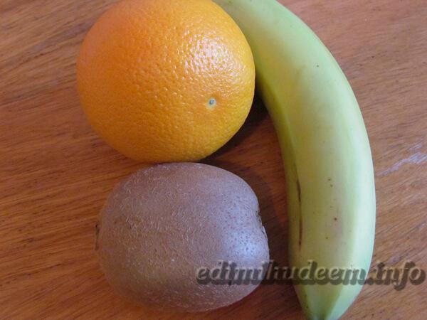 фруктовый салат пальма для детей