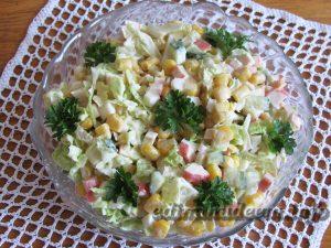 салат кукуруза крабовые палочки
