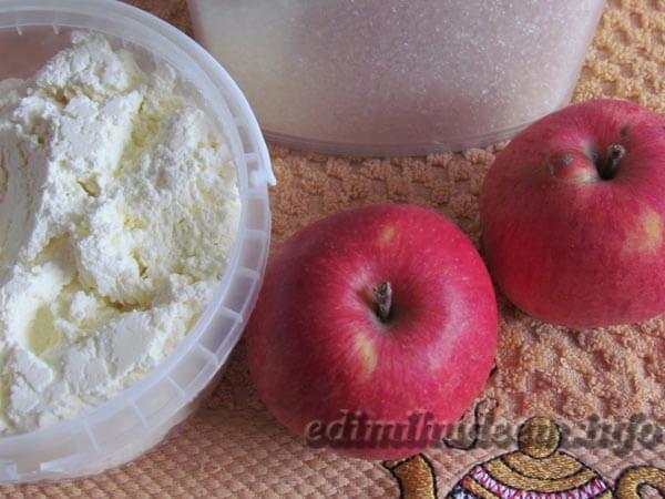 яблоко запеченное с творогом для ребенка