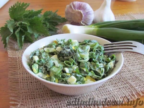 салат из молодой крапивы