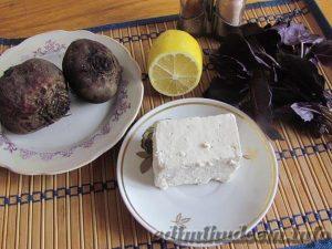 закуска из свеклы с брынзой