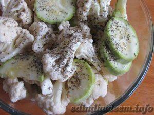 гарнир из кабачков и цветной капусты